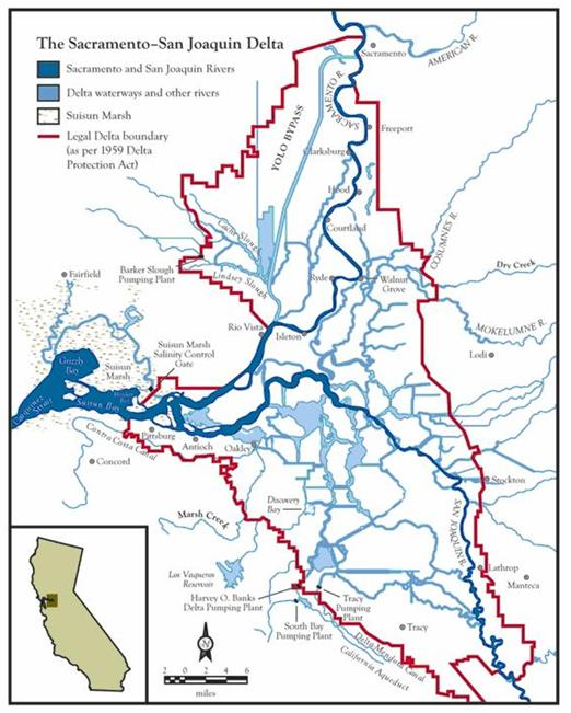 Sacramento River Delta Map Submited Images