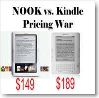 Barnes and Noble Nook lowers Price and prompts Amazon Kindle eBook Reader new Discounted Pricing