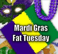 Fat Tuesday Mardi Gras Food - Pancakes, King Cakes, and Doughnuts